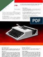 Olivetti Dora Typewriter Portable Instruction Manual Book Operating