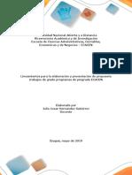 Protocolo Para Elaborar Propuesta de Investigación Trabajo de Grado ECACEN