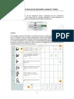 Ejemplo Cálculo de Secciones, Canales y Tubos Alumnos