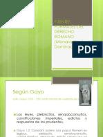 DERECHO ROMANO CLASE 3.pptx