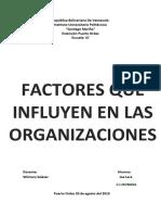 Influencias en Las Organizaciones