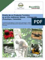 Diseño de un Producto Turístico en el Eje Ambiental Mocoa – Villagarzón (Putumayo, Colombia)