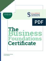 Business Foundations Certificate Brochure
