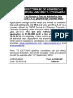 1 Notification into MBA 2 yrs & MCA 3 yrs through Distance Mode - 2018.pdf