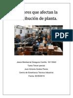 Factores Que Fectan La Distribuccion de Planta