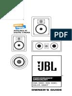 JBL SS8 Speakers Manual Digitalcinema