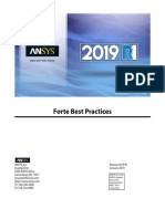 ANSYS Forte Best Practices