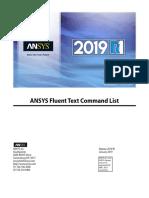 ANSYS Fluent Text Command List