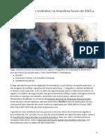 2019_AGO. Picos Históricos de Incêndios Na Amazônia Foram de 2004 a 2007