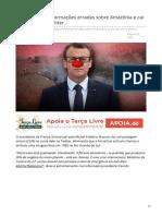 . 2019_AGO. Macron Erra Sobre Amazônia e Cai No Ridículo No Twitter