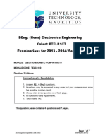 Electromagnetic Compatibility Exam 2014