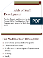 5 Models of Staff Developments of Teachers