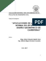 Informe Final Aplicaciones de La Norma Dg-2014