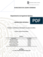 Practica 5 Coeficiente de Descarga