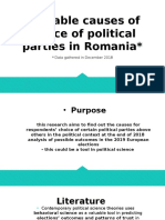 Probable causes of political party choice