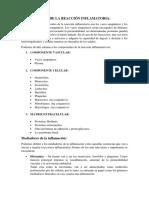 Componentes de La Reacción Inflamatoria