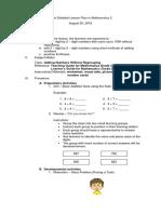 semi - detalied lesson plan for