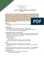 2009 Conference Notes - The Punjab -  Mir, Michon,  Bigelow,  Singh