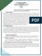 Plan de Mejoramiento Lengua Castellana Secuencia Didactica Maricel Carabali, Año 2019