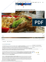 Trucos de Los Restaurantes de Comida Rápida Para Hacernos Comer Más