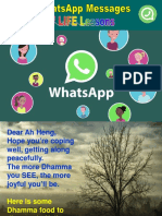 4 WhatsApp Messages of LIFE Lessons