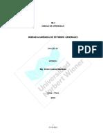 Modulo de Aprendizaje Ingles IV 2019-II