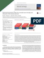 Achieving homogeneous anodic TiO2 nanotube layers through grain refinement of the titanium substrate