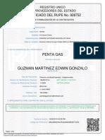 Certificado Rupe 1889289