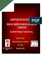 3_Vector - Martin Rodriguez, Investigación Geotécnica Para El Diseño de Instalaciones de Lixiviac