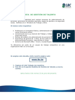 Analista de Gestion de Talento