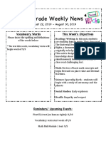 5th grade weekly news august 22