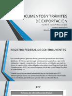 Documentos de transportación y exportación