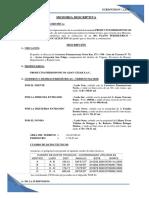 MEMORIA DESCRIPTIVA - Subdivision Productos