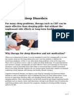 Therapy for Sleep Disorders