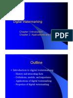 [Digital Watermarking 01 & 02] Applications and Properties of Watermarking