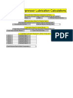 Compressor Lubrication Calculations