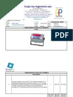 Cotizacion ISO de Indcador TP31