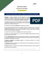 Evidencia de Aprendizaje. Unidad II. Métodos de Ordenación y Búsqueda