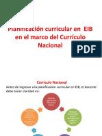 Planificación en EIB 2018