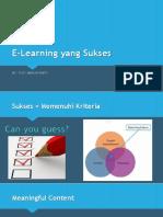 E-Learning Yang Sukses
