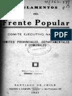 Reglamento del Frente Popular Chileno