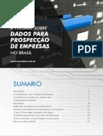 Estudos de dados para prospecção de empresas