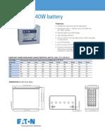 Eaton 12v 540w Battery Brochure PA162003EN