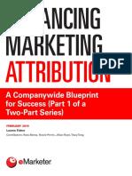 Advancing Marketing Attribution EMarketer