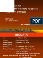 Coaching Clinic Penelitian DRPM 2020rev