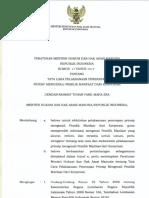 Peraturan Menteri Hukum dan Ham Nomor 15 Tahun 2019