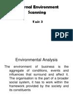 External Environment Scanning, Unit 3