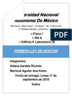 Primera Ley de Newton