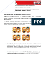 Estrategias Metodologica de Com. Asertiva y de Ambiente de Aula