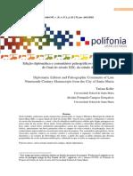 Edição diplomática e comentários paleográficos de manuscritos do final do século XIX, da cidade de Santa Maria